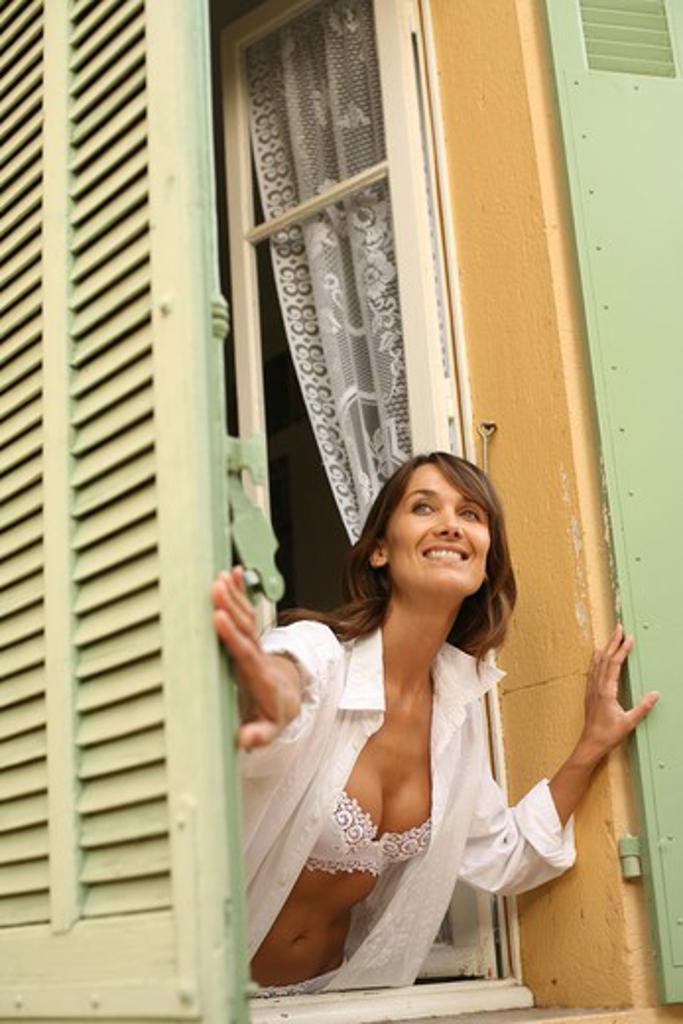 Stock Photo: 4252-10061 Woman window