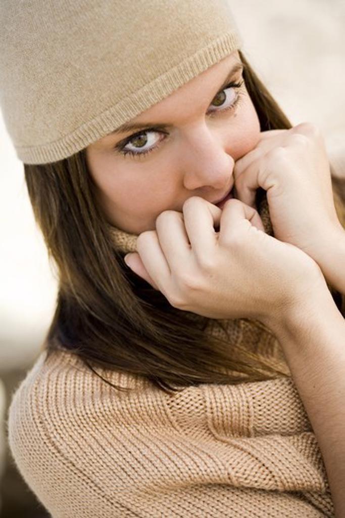Woman winter portrait : Stock Photo