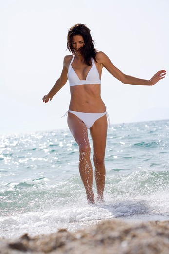 Stock Photo: 4252-12144 Woman beach.