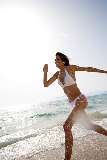 Stock Photo: 4252-12159 Woman beach.