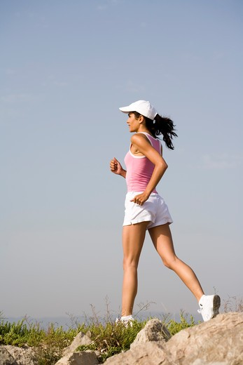 Woman jogging. : Stock Photo