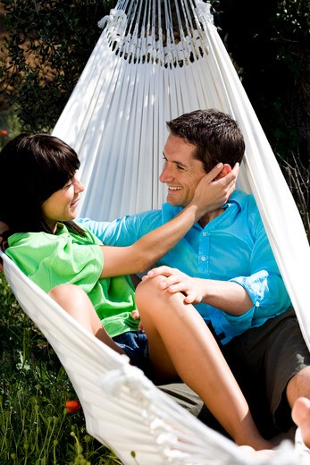 Stock Photo: 4252-12354 Couple hammock