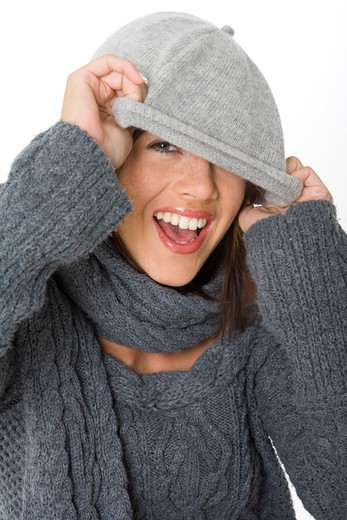 Stock Photo: 4252-13039 Woman wool.
