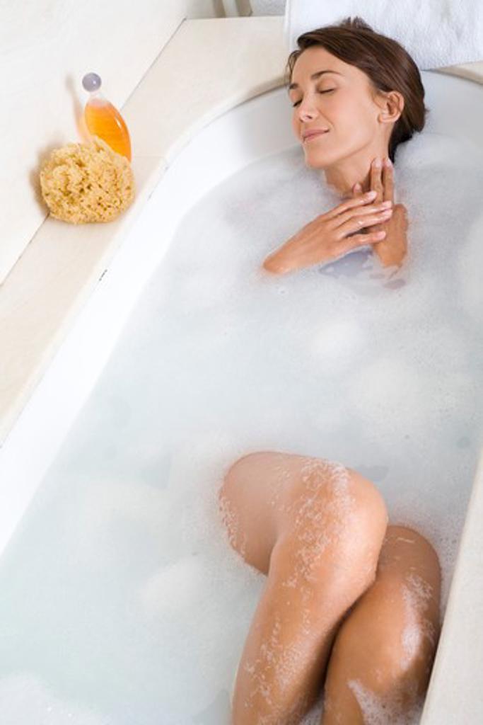 Woman bath. : Stock Photo