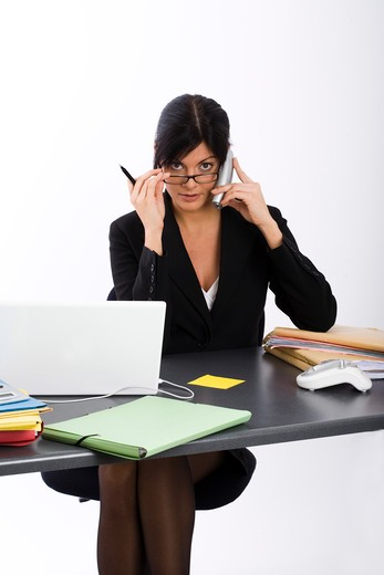 Stock Photo: 4252-14030 Woman office work