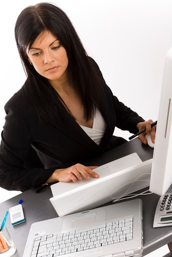 Stock Photo: 4252-14067 Woman office work