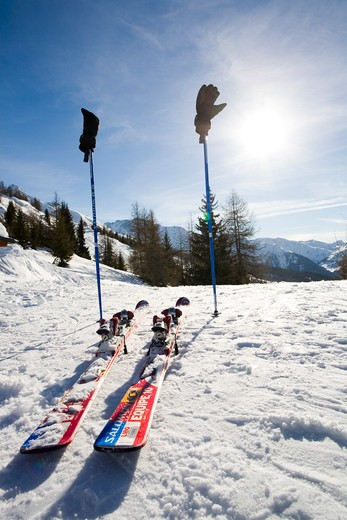 Stock Photo: 4252-14412 Ski equipment run