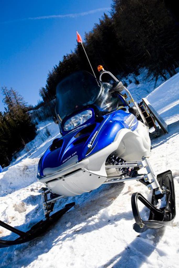 Snow-bike : Stock Photo