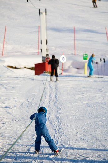 Stock Photo: 4252-14519 Child ski initiate