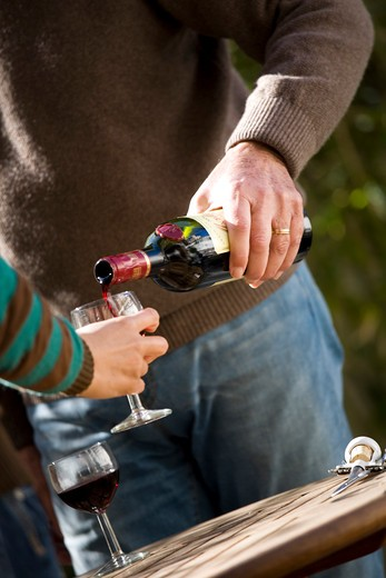 Stock Photo: 4252-14947 Man woman tasting wine