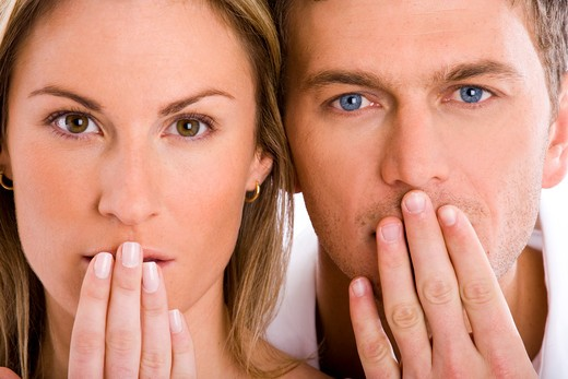 Stock Photo: 4252-15069 Couple hand mouth