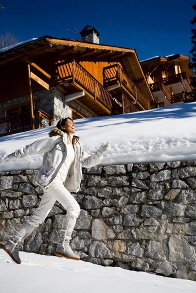 Woman mountain : Stock Photo