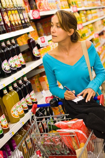 Stock Photo: 4252-16072 Woman shopping list