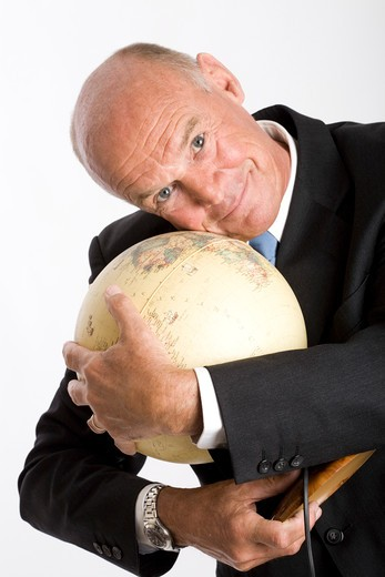 Man map of the world : Stock Photo