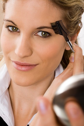 Woman eyebrow brush : Stock Photo