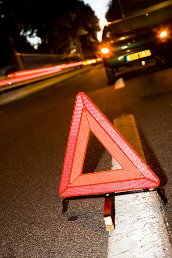 Stock Photo: 4252-17536 Triangle street danger