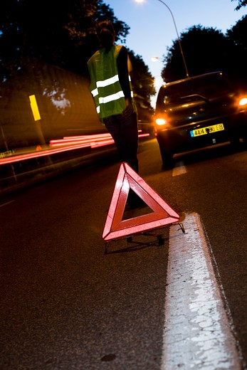 Triangle street danger : Stock Photo