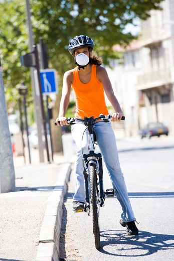Stock Photo: 4252-18381 Woman pollution.
