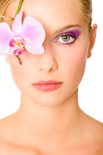 Woman beauty orchid. : Stock Photo