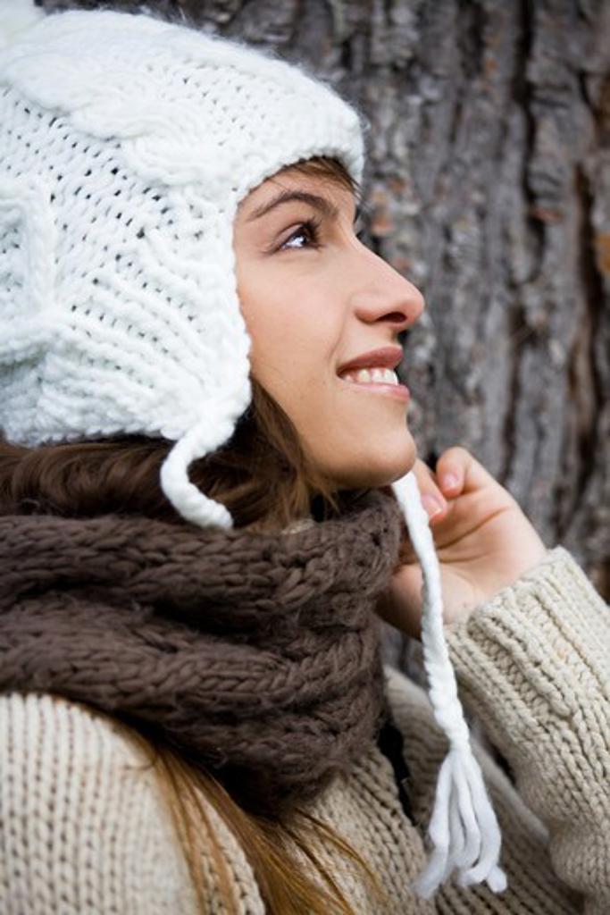 Woman winter cap : Stock Photo