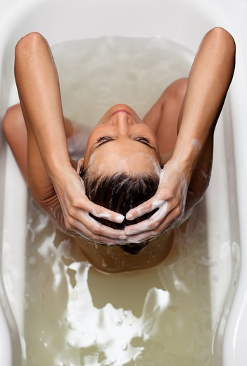 Stock Photo: 4252-19374 Woman bath
