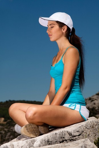 Stock Photo: 4252-19900 Woman yoga
