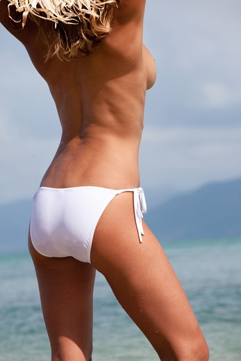Stock Photo: 4252-20419 Woman summer leanness