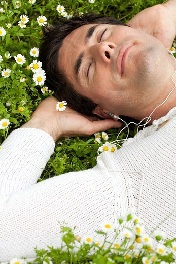 Stock Photo: 4252-20778 Man nature relaxing