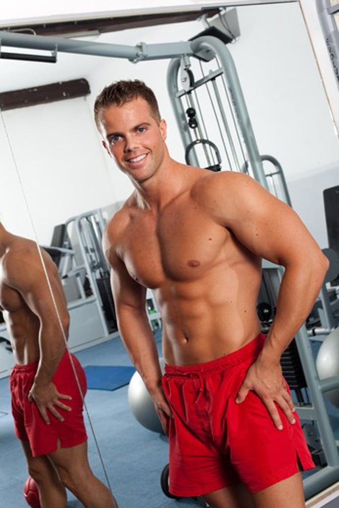 Stock Photo: 4252-21283 Man muscles portrait