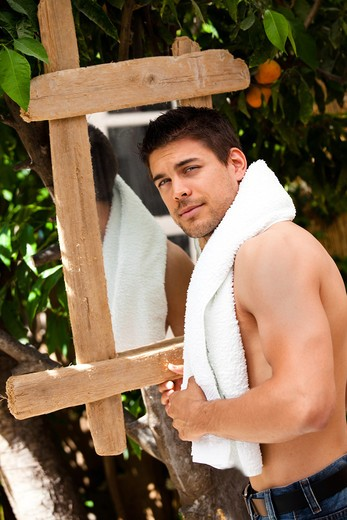 Stock Photo: 4252-21442 Man beauty nature