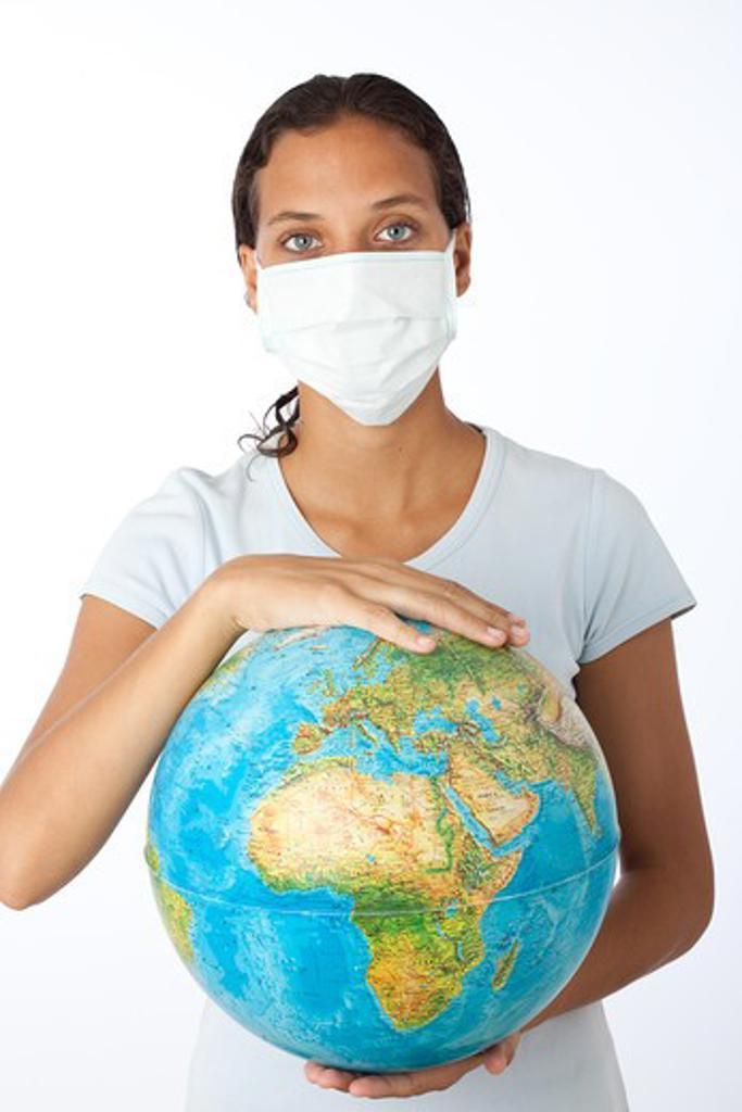 Stock Photo: 4252-22178 Woman pandemic symbol