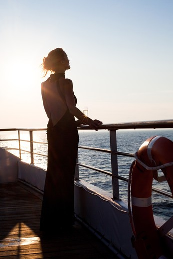 Woman cruise : Stock Photo