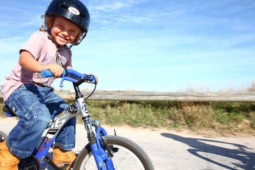 Stock Photo: 4252-22645 Little girl bike