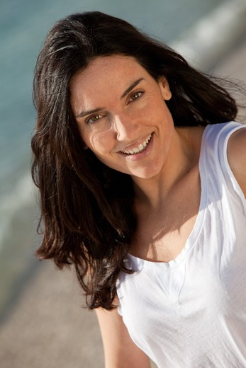 Stock Photo: 4252-22914 Woman beach portrait