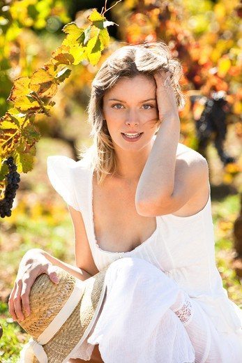 Stock Photo: 4252-23888 Woman autumn portrait