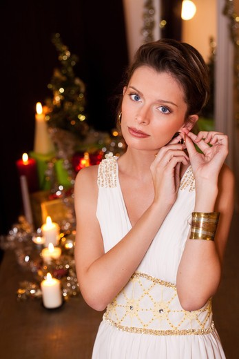 Stock Photo: 4252-23938 Woman Christmas portrait