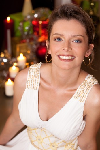 Stock Photo: 4252-23939 Woman Christmas portrait