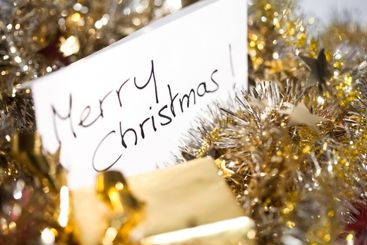 Stock Photo: 4252-23993 Greeting card Merry Christmas