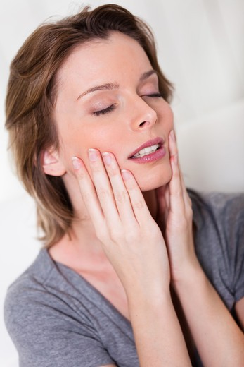 Stock Photo: 4252-24354 Woman face massage