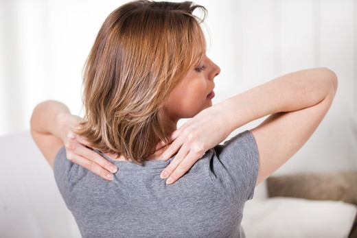 Stock Photo: 4252-24357 Woman back massage