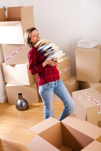 Stock Photo: 4252-24420 Woman moving