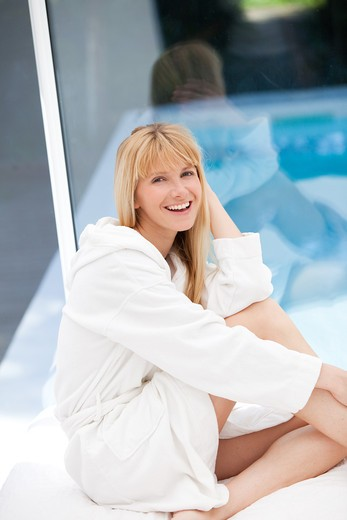 Stock Photo: 4252-25129 Woman portrait thalassotherapy