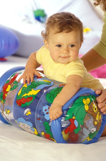 children inside boy play baby toy mother woman : Stock Photo