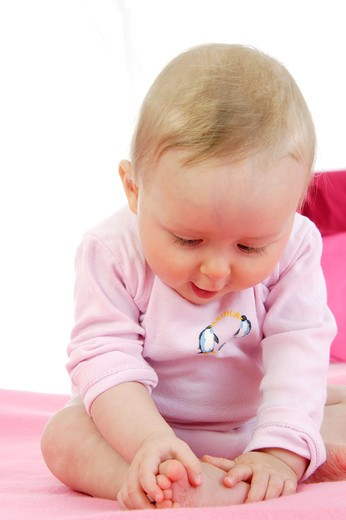 Stock Photo: 4252-25796 Seated baby