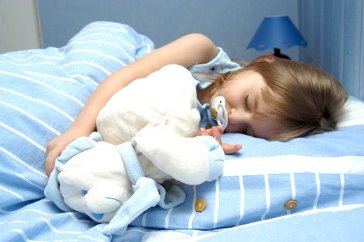 Stock Photo: 4252-25819 Sleeping little girl