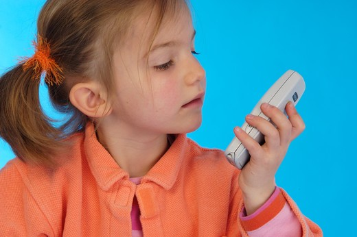 Stock Photo: 4252-25980 little girl phone