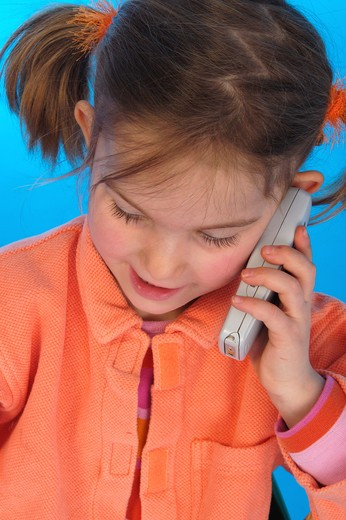little girl phone : Stock Photo