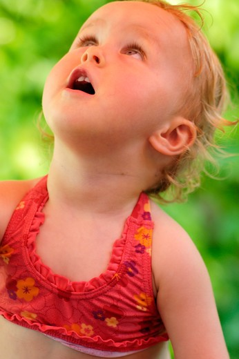 Stock Photo: 4252-26265 Little girl surprised