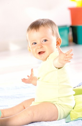 Stock Photo: 4252-26383 Smiling baby