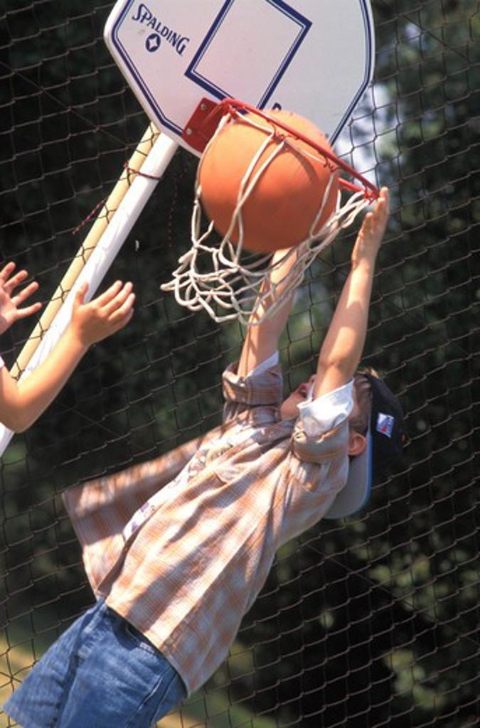 Child basketball : Stock Photo